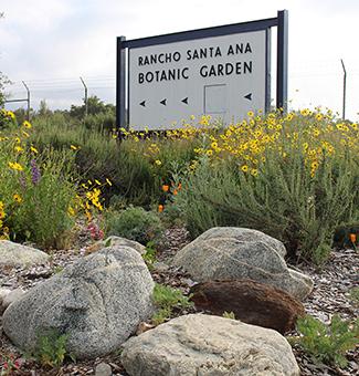 Rancho Santa Ana Botanic Garden Sign