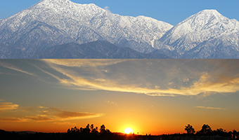 Mt Baldy Sunset in Claremont Village